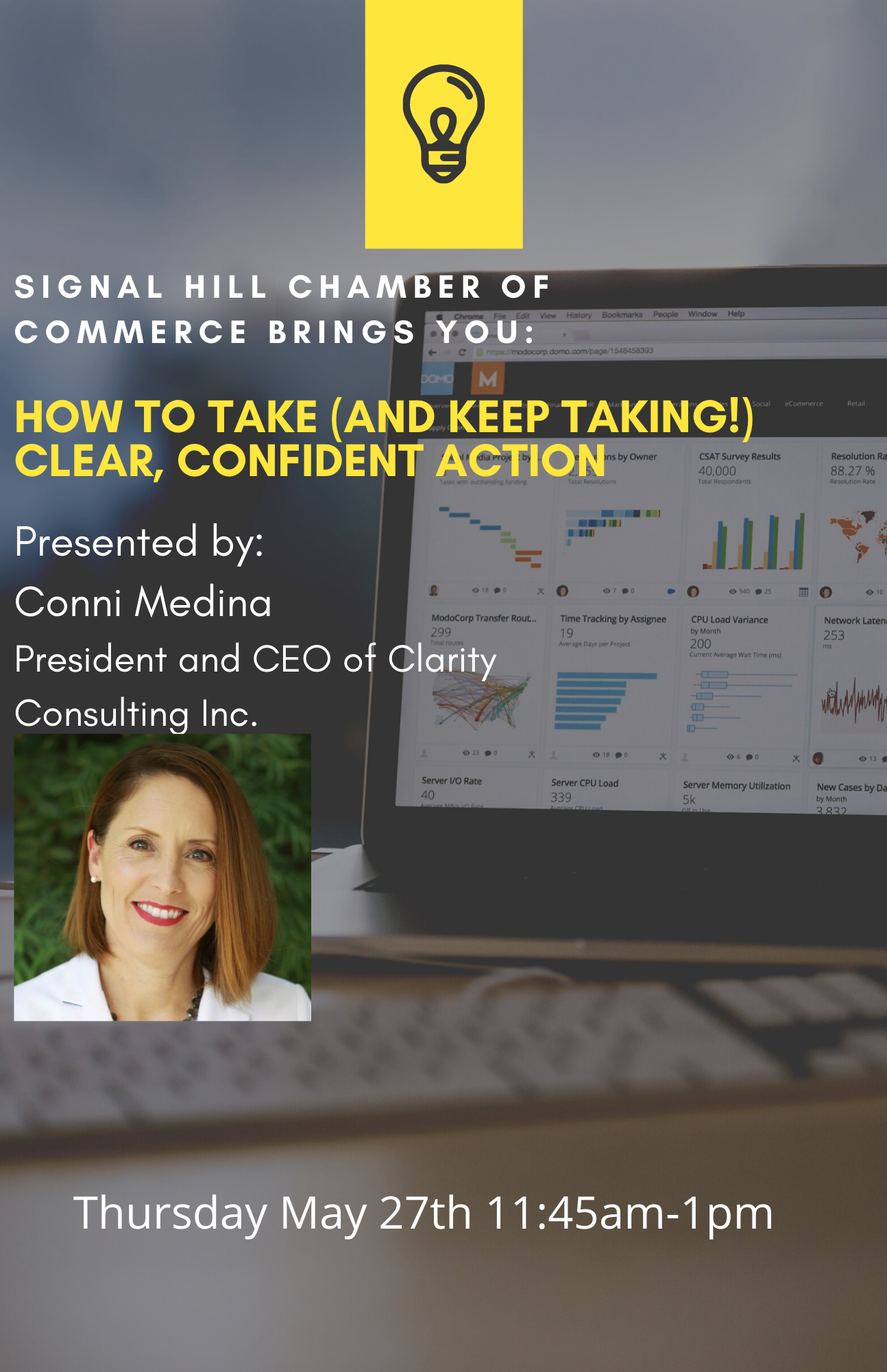 How to Take (and Keep Taking!) Clear, Confident Action- SHCC MORNING MIXER