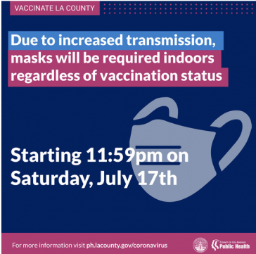 NEW mask mandate effective Saturday, July 17